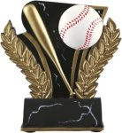 Baseball - Midnight Wreath Resin Trophy Baseball/Softball Awards