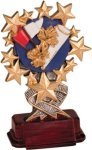 Cheerleading - Starburst Resin Trophy Cheerleading Awards