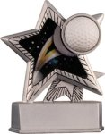 Golf - Silver Star Motion Series Resin Golf Awards