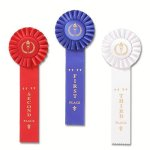Ribbons-Classic Single Streamer Rosette Award Ribbon Gymnastics Awards