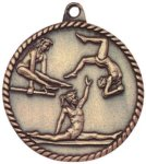 High Relief Medallion - Female Gymnastics Gymnastics Awards