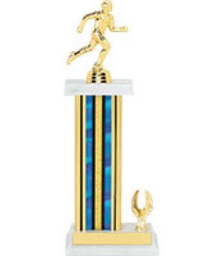 Trophy-Single Rectangular Column Trophy with Trim Single